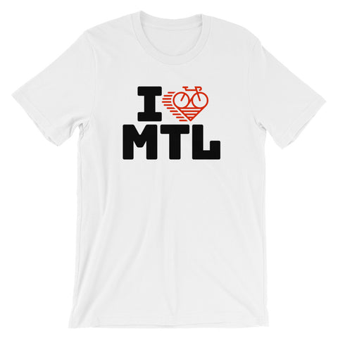 I LOVE CYCLING MONTREAL - Short-Sleeve Unisex T-Shirt