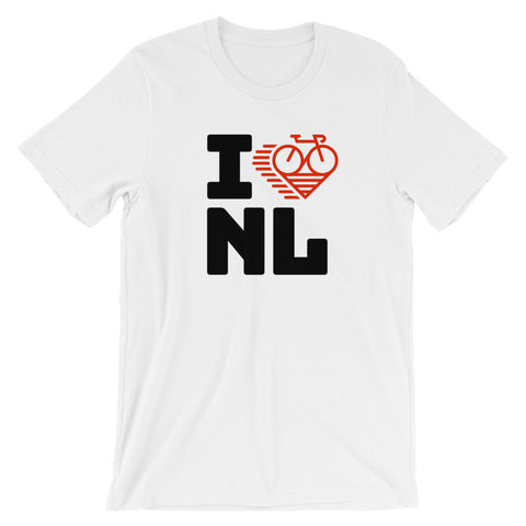 I LOVE CYCLING THE NETHERLANDS - Short-Sleeve Unisex T-Shirt