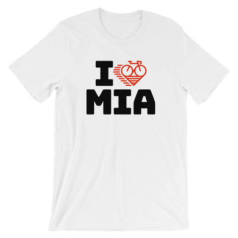 I LOVE CYCLING MIAMI - Short-Sleeve Unisex T-Shirt
