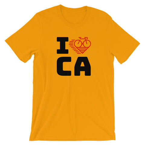 I LOVE CYCLING CALIFORNIA - Short-Sleeve Unisex T-Shirt