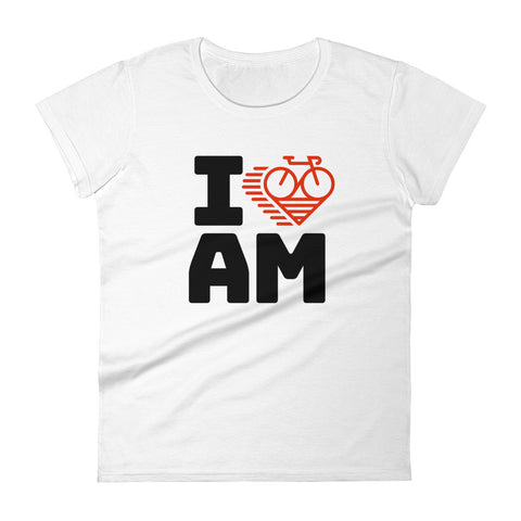 I LOVE CYCLING AMSTERDAM - Women's short sleeve t-shirt