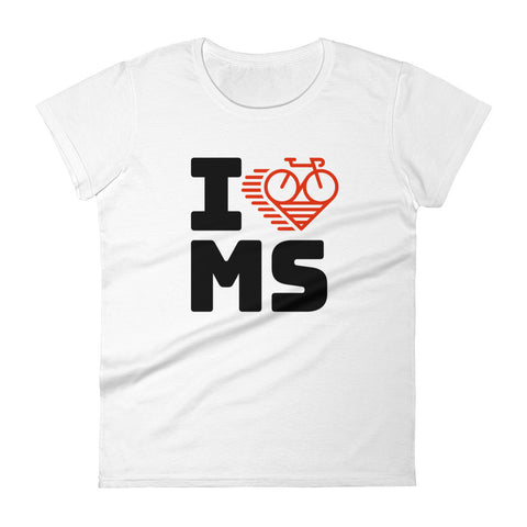 I LOVE CYCLING MISSISSIPPI - Women's short sleeve t-shirt