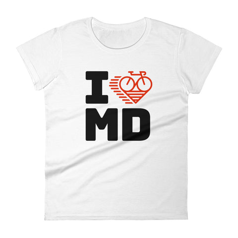 I LOVE CYCLING MARYLAND - Women's short sleeve t-shirt