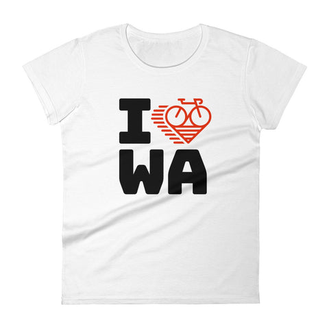 I LOVE CYCLING WASHINGTON - Women's short sleeve t-shirt