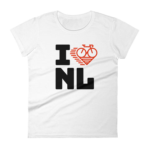 I LOVE CYCLING THE NETHERLANDS - Women's short sleeve t-shirt