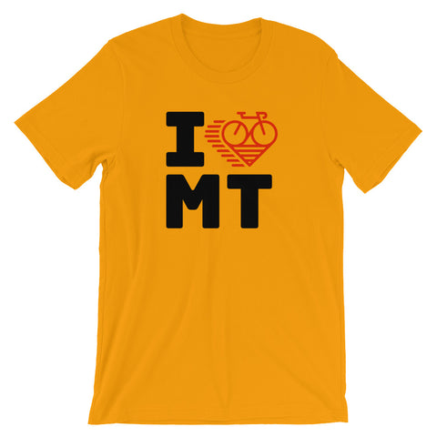 I LOVE CYCLING MONTANA - Short-Sleeve Unisex T-Shirt