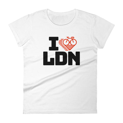 I LOVE CYCLING LONDON - Women's short sleeve t-shirt