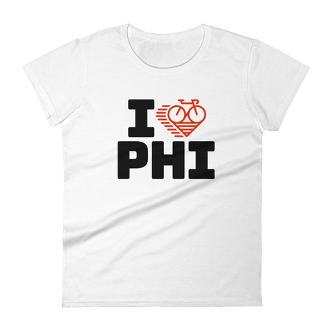 I LOVE CYCLING PHILADELPHIA - Women's short sleeve t-shirt