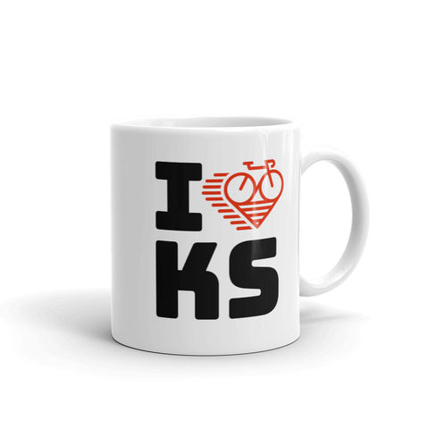 I LOVE CYCLING KANSAS - Mug