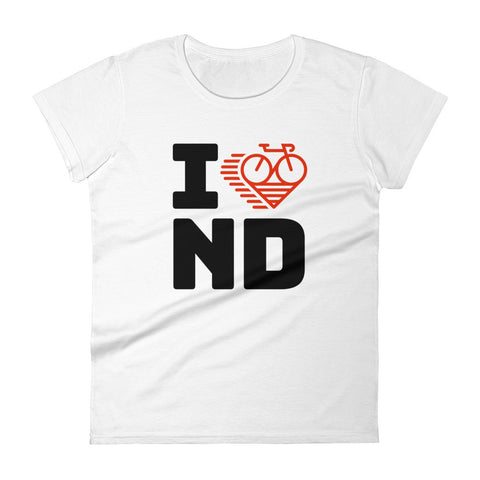 I LOVE CYCLING NORTH DAKOTA - Women's short sleeve t-shirt