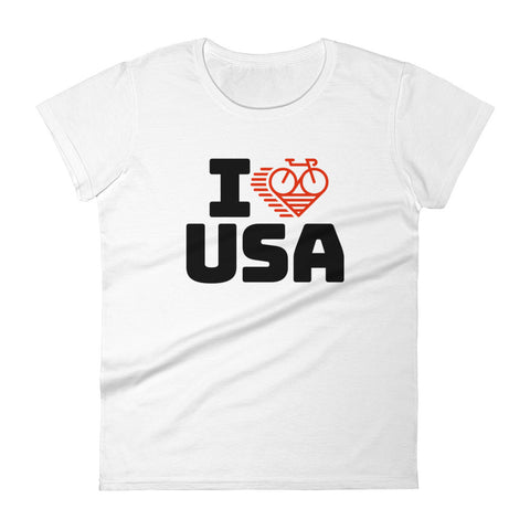 I LOVE CYCLING USA - Women's short sleeve t-shirt