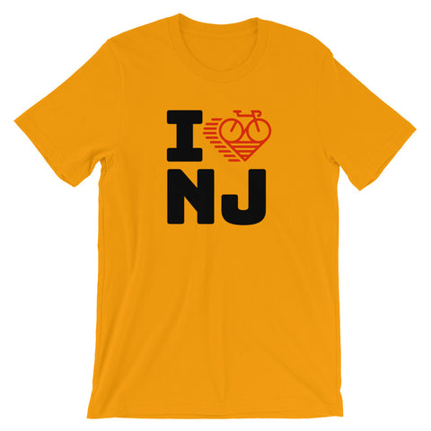 I LOVE CYCLING NEW JERSEY - Short-Sleeve Unisex T-Shirt