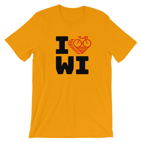 I LOVE CYCLING WISCONSIN - Short-Sleeve Unisex T-Shirt