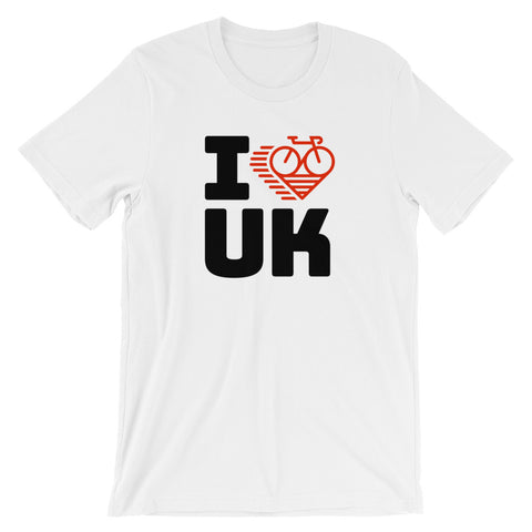 I LOVE CYCLING THE UNITED KINGDOM - Short-Sleeve Unisex T-Shirt