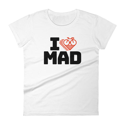I LOVE CYCLING MADRID - Women's short sleeve t-shirt