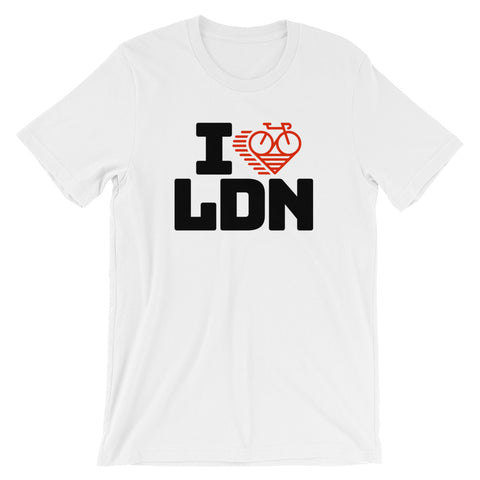 I LOVE CYCLING LONDON - Short-Sleeve Unisex T-Shirt