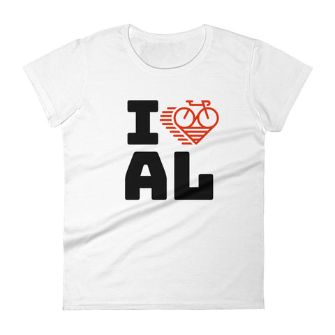 I LOVE CYCLING ALABAMA - Women's short sleeve t-shirt
