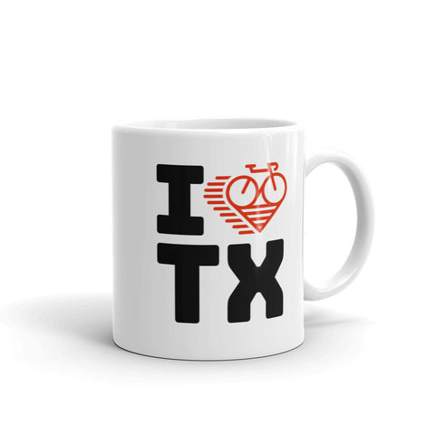I LOVE CYCLING TEXAS - Mug