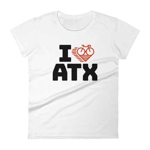 I LOVE CYCLING AUSTIN - Women's short sleeve t-shirt