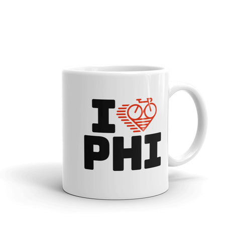 I LOVE CYCLING PHILADELPHIA - Mug