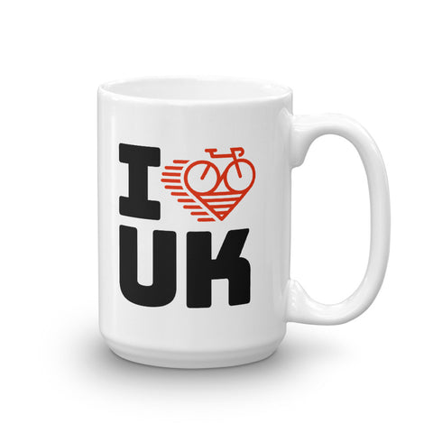 I LOVE CYCLING THE UNITED KINGDOM - Mug
