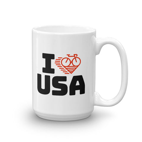 I LOVE CYCLING USA - Mug