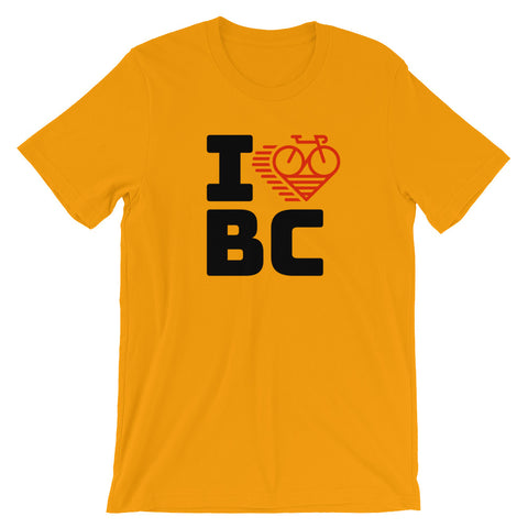 I LOVE CYCLING BRITISH COLUMBIA - Short-Sleeve Unisex T-Shirt