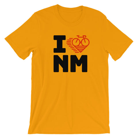 I LOVE CYCLING NEW MEXICO - Short-Sleeve Unisex T-Shirt