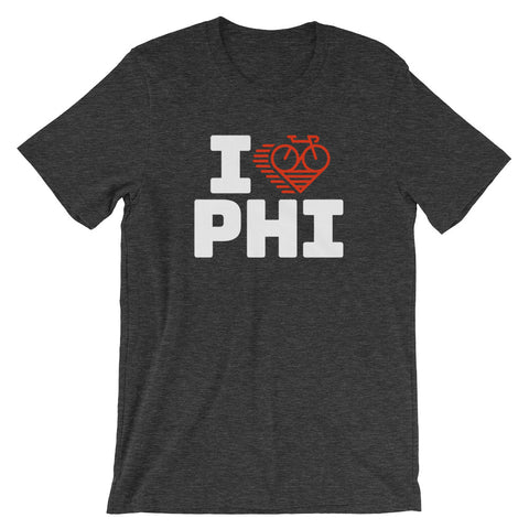 I LOVE CYCLING PHILADELPHIA - Short-Sleeve Unisex T-Shirt