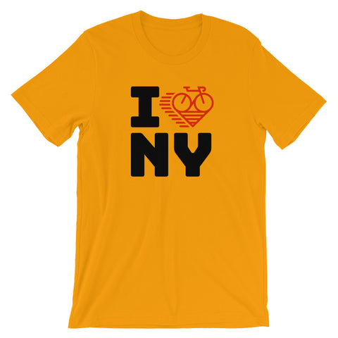 I LOVE CYCLING NEW YORK - Short-Sleeve Unisex T-Shirt