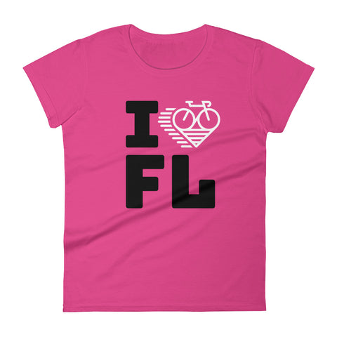 I LOVE CYCLING FLORIDA - Women's short sleeve t-shirt