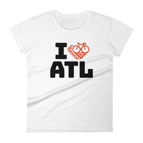 I LOVE CYCLING ATLANTA - Women's short sleeve t-shirt