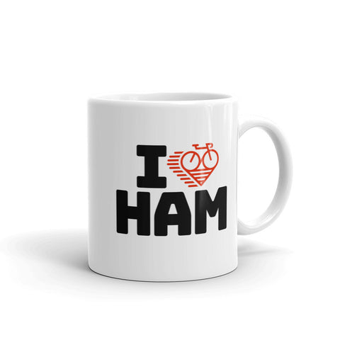 I LOVE CYCLING HAMBURG - Mug