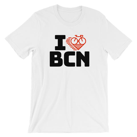 I LOVE CYCLING BARCELONA - Short-Sleeve Unisex T-Shirt