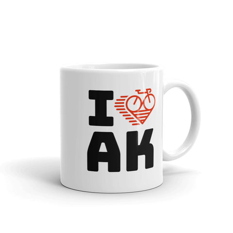 I LOVE CYCLING ALASKA - Mug