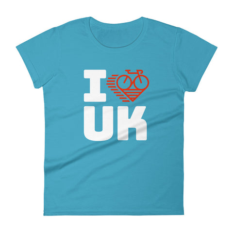 I LOVE CYCLING THE UNITED KINGDOM - Women's short sleeve t-shirt