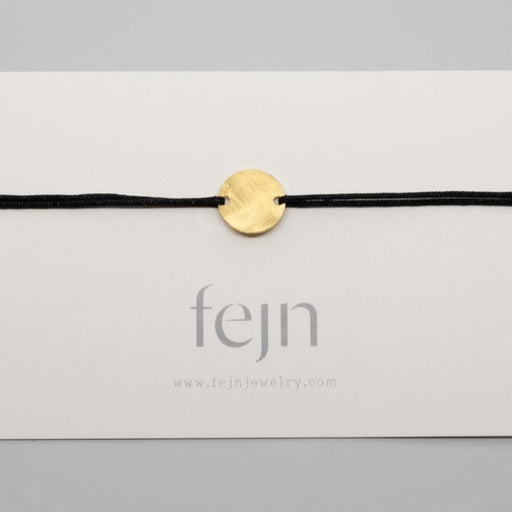 satin disc bracelet gold