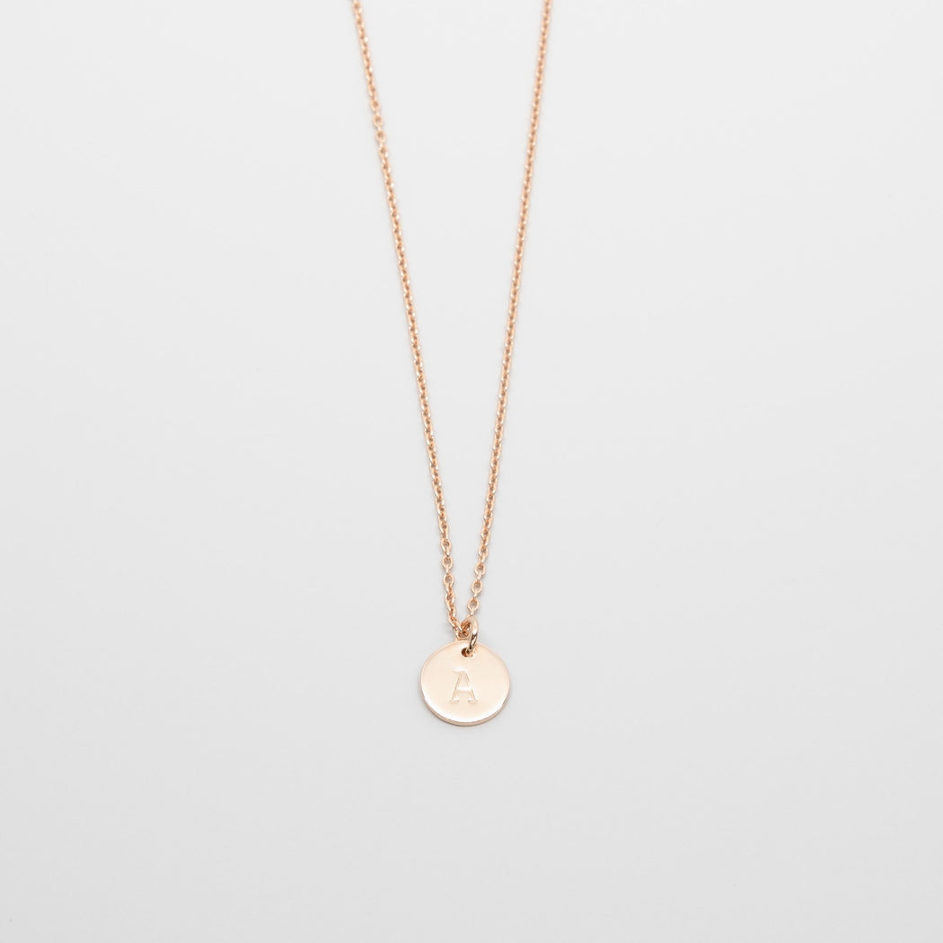 shiny disc necklace - L - personalized