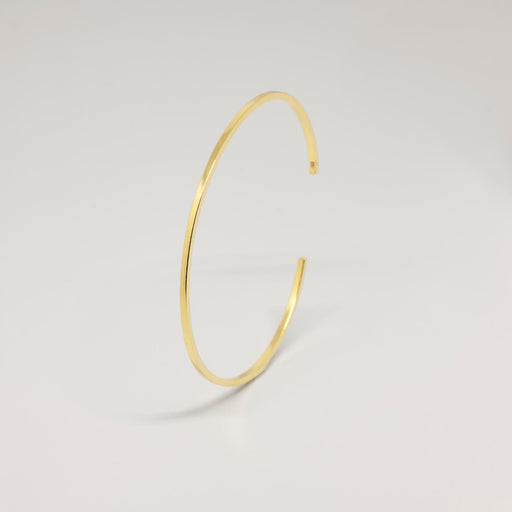 Armreif simple cuff 24K vergoldet