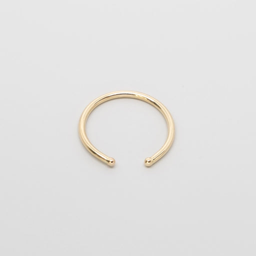 open ball ring | solid gold