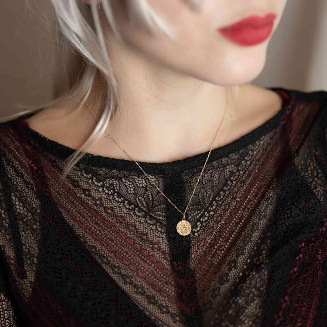 ornament necklace | solid gold