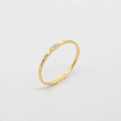 hammered turquoise ring -  LIMITED EDITION