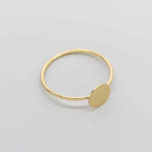 satin disc ring