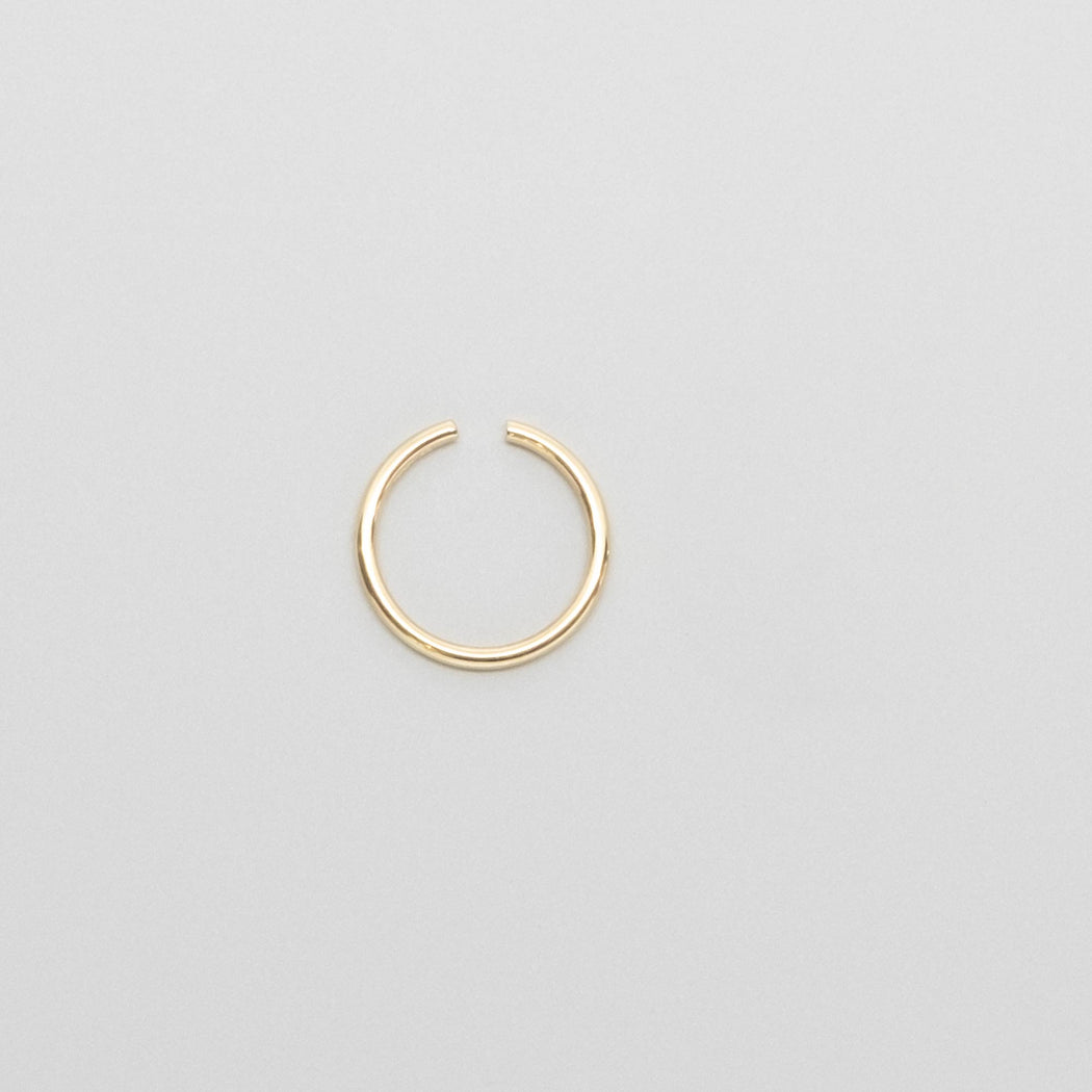 shiny mini hoop | solid gold