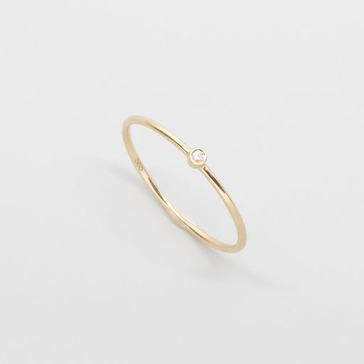 single diamond ring | solid gold