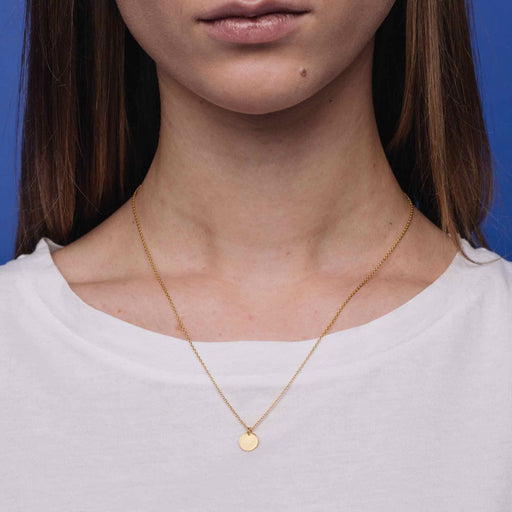 shiny disc necklace - M / L