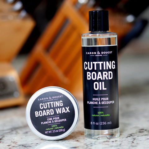 Caron et Doucet cutting board wax and oil