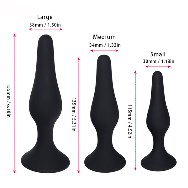 Silicone Butt Plug Sizes