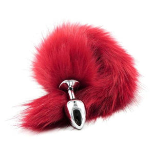 Red Faux Fox Tail Anal Plug