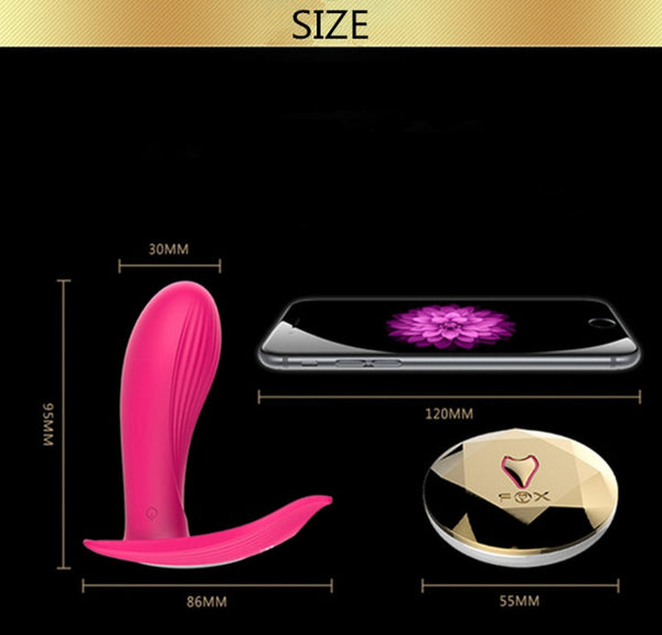 FOX - Dildo and Clitoris vibrator - Pink